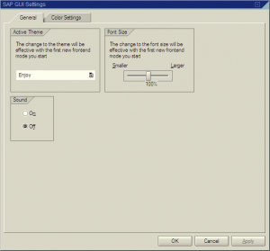 Selecting the GUI theme