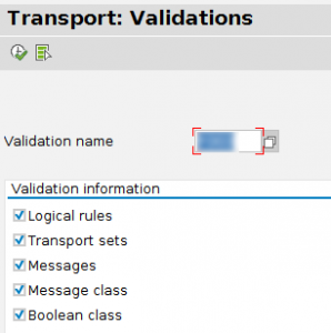 Transporting validation
