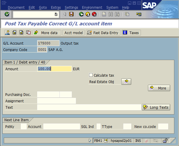 Special cases of tax posting | SAP Expert