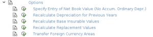 Asset transfer options