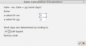 Calendar in variable calculation