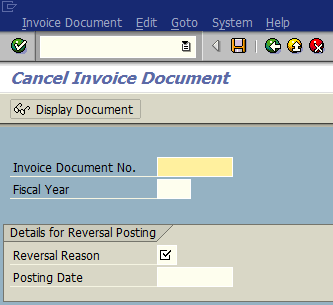 Different types of document reversals in SAP systems